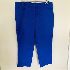 DAHLIA capris /crops blue pockets, polka dots